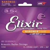 Corda / Encordoamento P/ Violão Aço - Elixir | 010 Anti Rust
