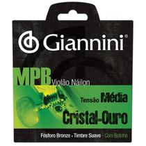 Encord. Violão Giannini Nylon Mpb Cristal Ouro Média Genwg