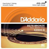 Encordoamento Daddario P/ Violão Aço 010 Ez900 B Bronze