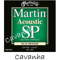 Encordoamento Violão Martin Sp 80/20 Bronze 010