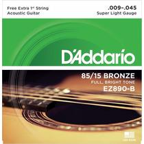 Encordoamento P/ Violão D´addario, Bronze 85/15 Ez890-b .009
