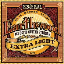 Cordas De Violão Aço Ernie Ball 010 Earthwood Extra Light
