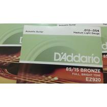 Encordoamento Aço Daddario Violão Ez920 85/15 Bronze