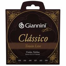 Jogo De Cordas P/ Violão Classico Leve Nylon Giannini Genwpl
