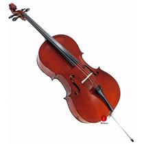 Violoncelo Cello 4/4 Estudante C/ Capa Arco E Breu Augustini