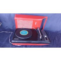 Vitrola Radiola Toca Disco Vermelha Philips Antiga Funciona