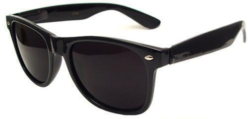 Wayfarer Preto Escuro Óculos Ou Armação Com Lente Incolores