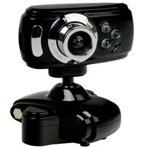 Webcam 32000k Interpolado C/ Led + Mic Alta Definição Usb