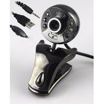 Web Cam Usb Com 6leds + Microfone + Visão Noturna