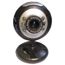 Webcam Com 6 Leds P/ Iluminação Microfone Embutido