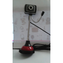 Webcam Usb 5000kp Haste Flexivel,base E Microfone Imbutido