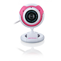 Webcam Com Microfone 16mp Usb Branca/rosa Multilaser Wc042
