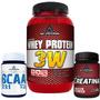 Combo Whey 3w + Bcaa + Creatina - Nutrition Labs