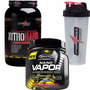 Nano Vapor Muscletech + Whey Protein Integralmedica + Copo