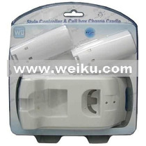 Carregador 2 X 1 Para Nintendo Wii E Wii U