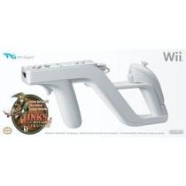 Wii Zapper Pistola Original Nintendo + Jogo Zelda Link`s