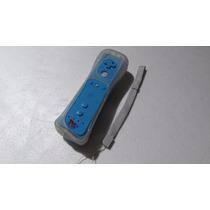 Controle Nintendo Wii Remote Azul + Capa Silicone + Alça