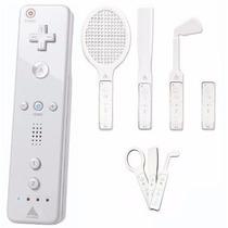 Kit Controle Wii Remote + 4 Acessórios Esportivos Wii Sports
