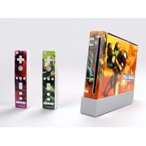 Nintendo Wii + 2 Remotes + 2 Nunchucks + 1 Motion Plus Desbl