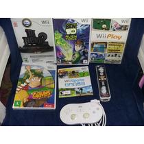 Kit Com 5 Jogos E Dois Controles Do Wii