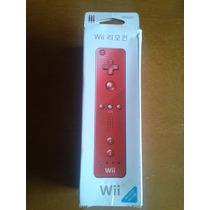 Controle Nintendo Wii Remote Vermelho +capa Silicone+alça