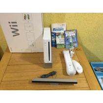 Nintendo Wii Completo Na Caixa Com Wii Sports - Pouco Usado