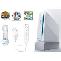 Nintendo Wii Destravado + Remote + Nunchuck + Motion +3jogos
