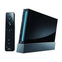 Nintendo Wii Preto + Super Mario Bros Wii C/ Caixa Original