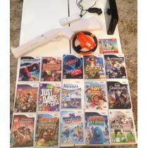 Nintendo Wii + 16 Jogos Originais + Controles E Acessorios