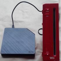 Nintendo Wii Série Especial Vermelho Semi Novo
