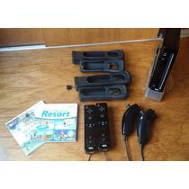 Nintendo Wii Preto + 2 Controles + Acessórios + 2 Jogos