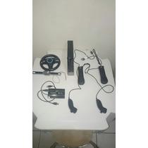Nintendo Wii Black Desbloqueado Com Hd Externo