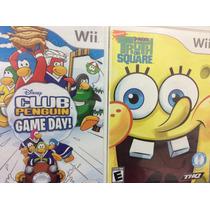 2 Jogos Wii- Club Penguin Game Day E Bob Esponja Truth Or