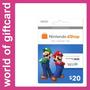 Cartão Nintendo Eshop 3ds/wii U $20 Estados Unidos Por Email