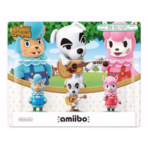 Novo Lacrado Kit Animal Crossing Amiibo Para Nintendo Wii U