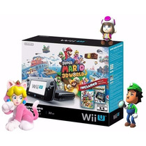 Nintendo Wii U Deluxe 32gb Completo Mário 3d World + Land