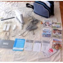 Nintendo Wii Completo - Com Bolsa Luxo E Games