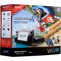 Wii U Deluxe 32gb Mario Kart 8 + Nintendoland Bundle Barato