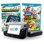 Nintendo Wii U 32gb Deluxe Completo + 2 Jogos Mario E Luigi