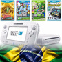 12x S/ Juros Wii U Branco Nacional C/ Zelda, Mario + 2 Jogos