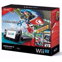 Bundle Wii U Set Deluxe Mario Kart 8 - 32gb - Novo - Lacrado