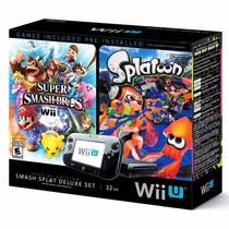 Nintendo Wiiu 32gb Smash Splat Deluxe Bundle - 12x Sem Juros