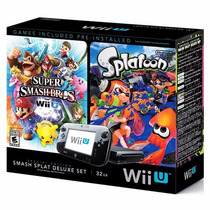 Wii U Wiiu Deluxe 32gb Splatoon + Nintendo Land E-sedex 6,07