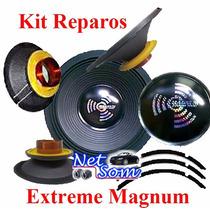 Kit Reparo Auto Falante Magnum Rex 18 800 Rms 4 / 8 Ohms