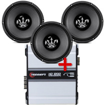 Kit 3 Woofer Magnum Médio Grave 10 400w + Taramps Hd 1200