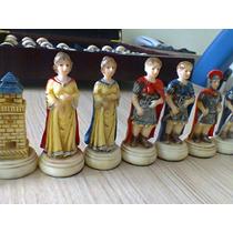 Jogo De Xadrez - Medieval-raridade E De Bom Gosto