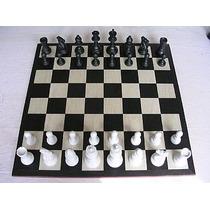 Jogo De Xadrez Conjunto Modelo Extra Preto X Branco