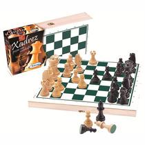 Jogo De Xadrez - Peças Em Madeira - Xalingo