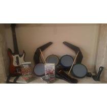 Kit Guitarra, Microfone E 4 Jogos Originais (guitar Hero)