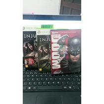Injustice + Liga Da Justiça Doom Xbox 360 Super Conservado
